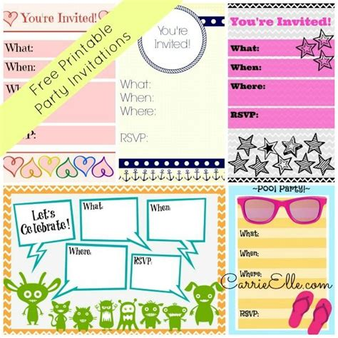 free printable birthday invitations without downloads free printable invitations without downloads