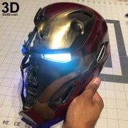 printable model iron man mark mk destroyed