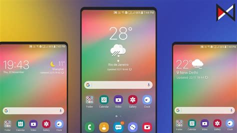 samsung  ui weather widgets   android devices