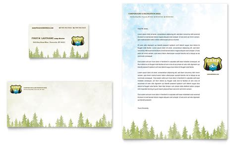 free business card templates nature nature cing hiking business card letterhead