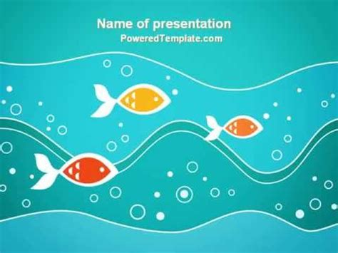 Fish Theme Powerpoint Template By Poweredtemplate Com Fish Ppt Templates Free