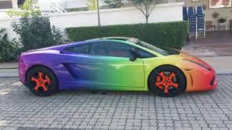 Lamborghini Gallardo Colors Lamborghini Gallardo Wrapped In Color Gradient Gtspirit