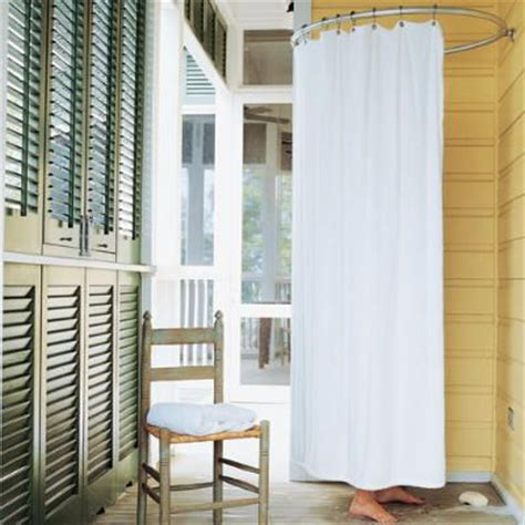 outdoor shower curtain rod 14 best images about outdoor mud room on pinterest