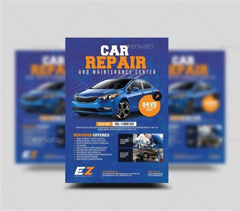 Mechanic Flyer Templates Free