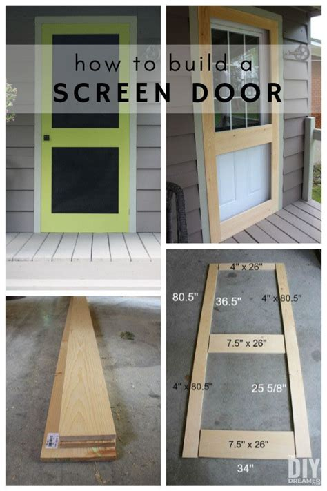 build  screen door diy screen door diy screen