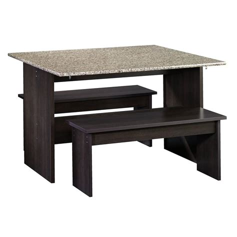 trestle table with benches sauder beginnings collection trestle table with bench set
