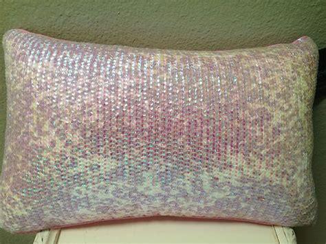 Cynthia Rowley Pillows by Cynthia Rowley Pink White Sequin Beaded Designer Throw
