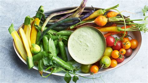 Easy Dinner Party Main Dishes - summer crudites with green goddess dip recipe martha stewart