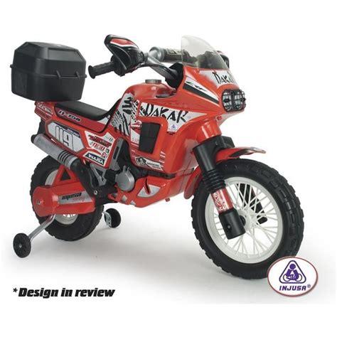Injusa Motorrad Kawasaki by Moto 233 Lectrique Enfant Africa Twin 6 Volts Avec Top Case