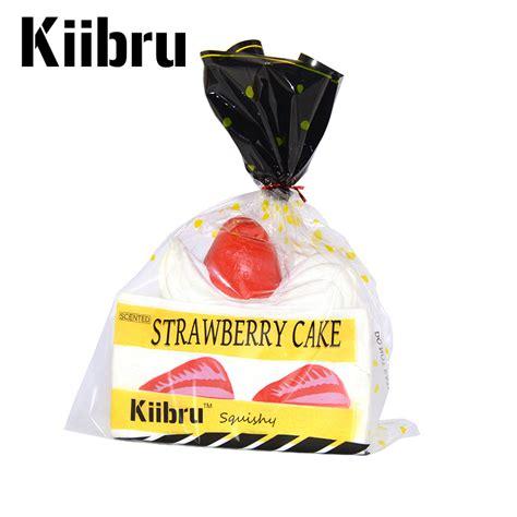 Kiibru Pink Slice Cake Squishy aliexpress buy 11 pcs lot new kiibru squishy jumbo strawberry shortcake slice