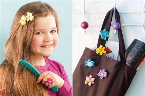 make loom band hair pins loom band designs how to make flower accessories