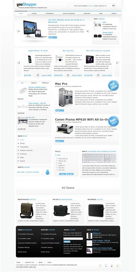 Ecommerce Joomla Templates youshopper joomla ecommerce template