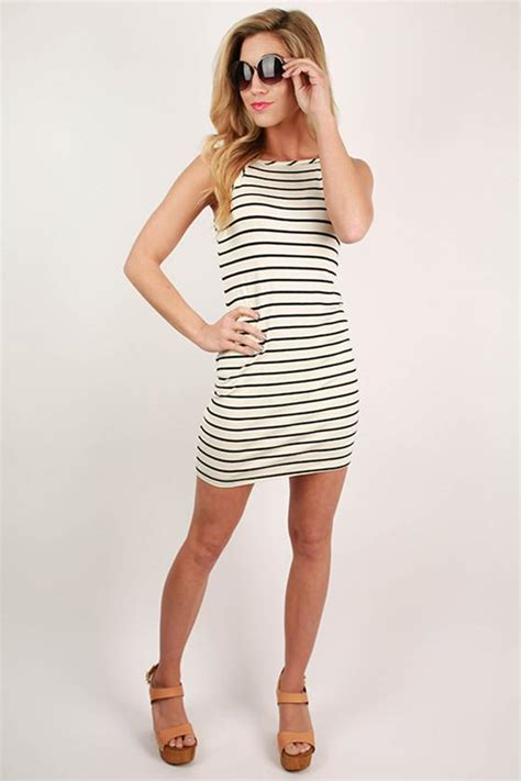 Dress Harvard harvard honey stripe dress in white impressions boutique