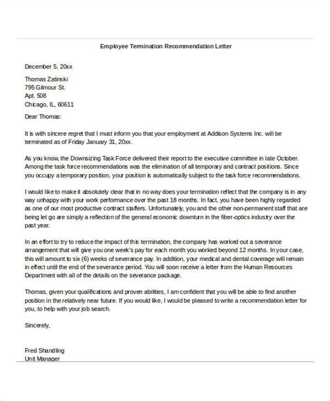 Reference Letter Upon Termination how to write a reference letter for fired employee howsto co