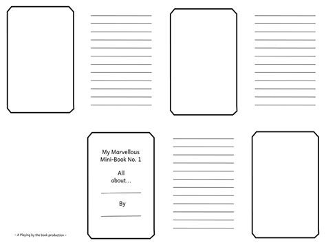 mini book template mini books