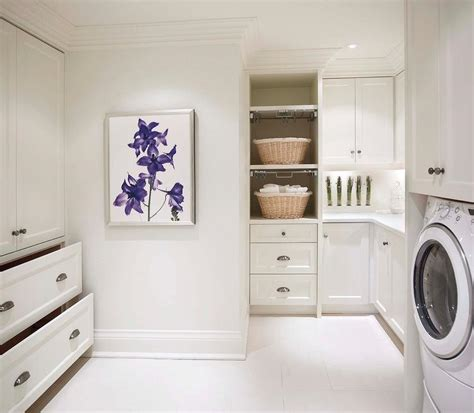 pull out laundry her for cabinet laundry room with pull out drying racks transitional