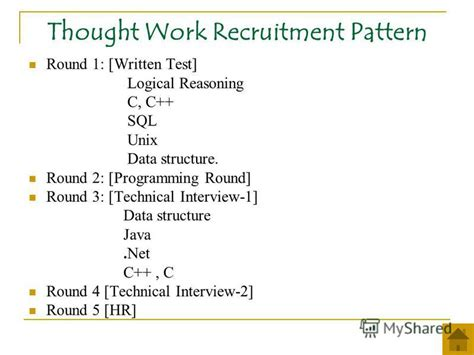 thought pattern quiz презентация на тему quot cus recruitment patterns ppt