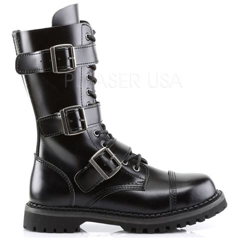 demonia boots mens mens riot 12 combat boot by demonia leather ankle ranger boot