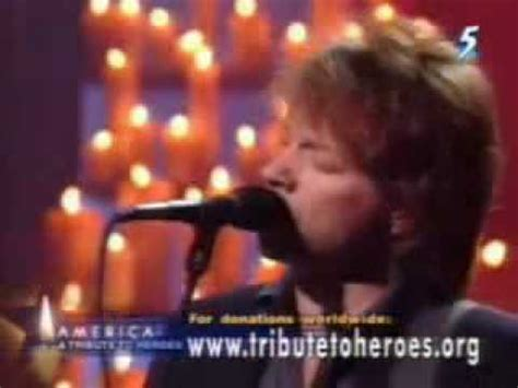 bon jovi 911 bon jovi livin on a prayer 911 tribute to heroes youtube