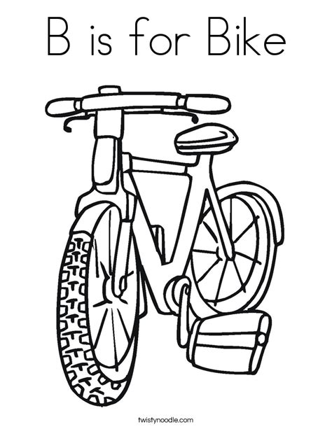 free coloring pages of bike