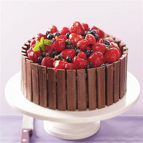 chocolate fruit basket cake recipe taste  home