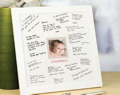 signature mat as a baby shower guest book http www