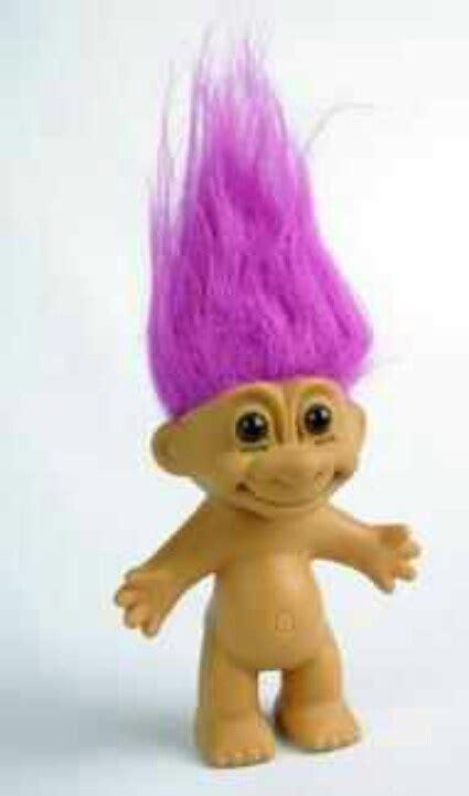 troll doll troll dolls mine had black hair troll hair color