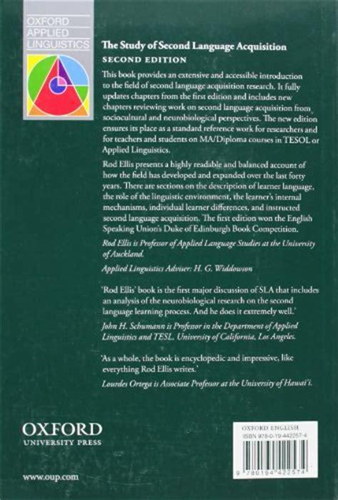 libro the study of language libro the study of second language acquisition di rod ellis