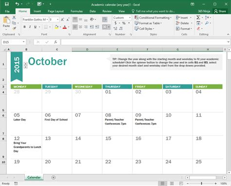 A Calendar In How To Create A Calendar In Excel Bettercloud Monitor