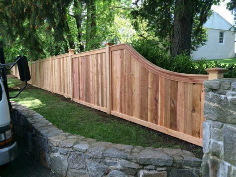 fences for outside cedar fence portfolio westchester fence company 914 337 8700