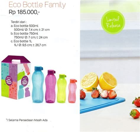 Tupperware Eco Family 4 eco bottle family tupperware indonesia promo