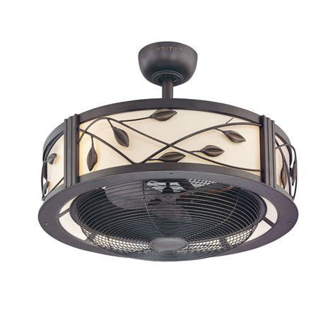 ceiling fans with remote and light lowes shop allen roth eastview 23 in aged bronze downrod mount