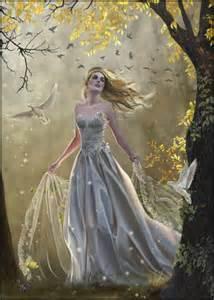 Light Fairies Nene Limited Edition Signed Print Last Light Faery Dove Forest Ebay