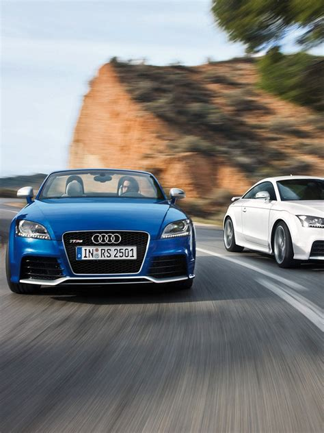 cars audi tt rs coupe blue white ipad iphone hd