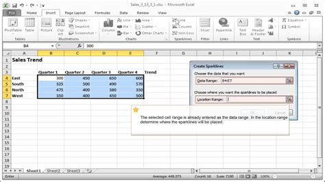 excel 2010 sparklines tutorial how do you insert column sparklines in excel 2013 excel