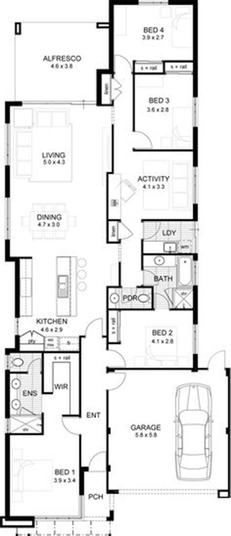 narrow home designs 1000 images about single storey floor plans narrow lot
