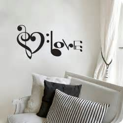 Music Wall Art Stickers Music Notes Spelling Love Wall Decal From Stickitthere On Etsy
