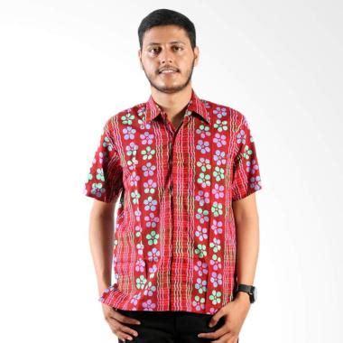 Kemeja Batik Bunga Kincir Abu jual daily deals batik nulaba batik cap pagar bunga kemeja lengan pendek pria