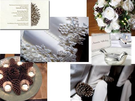 pine cone themed decor winter wedding theme in 3 easy steps estate weddings and