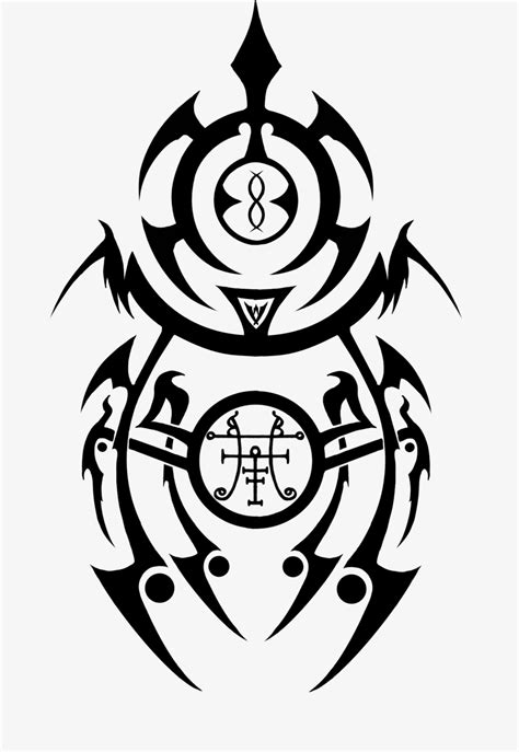 tribal demon tattoo occult goetic tribal by iagan on deviantart