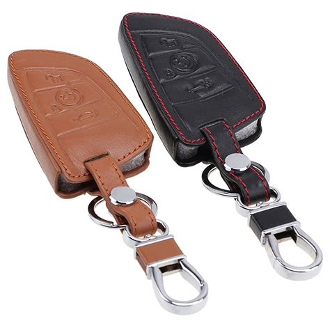Bmw X5 Durable Premium Asli Car Cover Sarung Mobil Grey leather smart remote key fob holder cover keychain