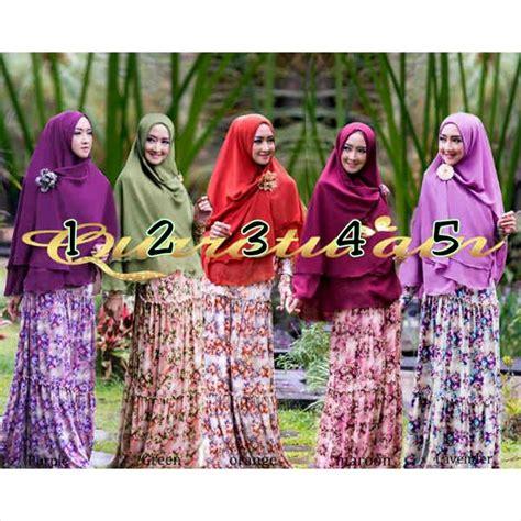 Gamis Muslim Syari Lavender Byk Warna busana muslim koleksi terbaru