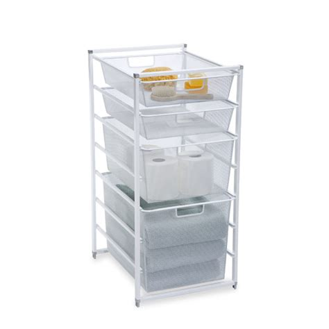 bathroom storage drawers white elfa drawers the container store