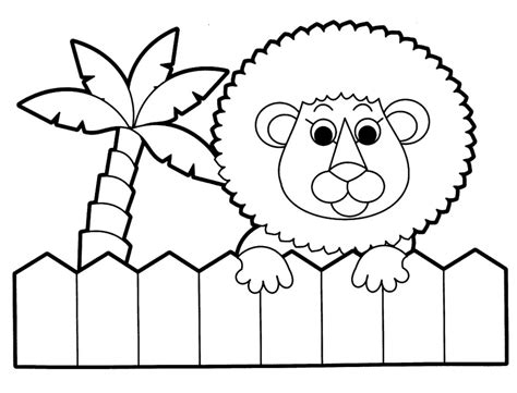 zoo background coloring page free printable coloring pages animals zoo cartoon