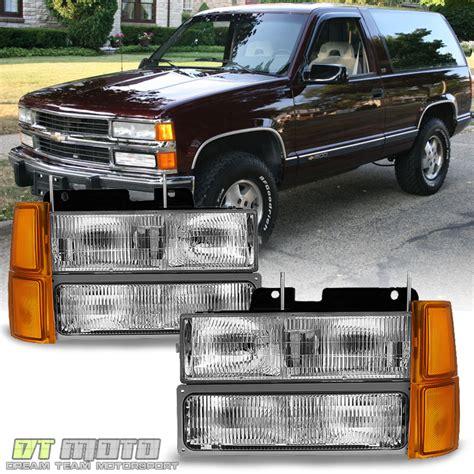 1998 chevy silverado lights 1994 1998 chevy silverado suburban tahoe headlights corner