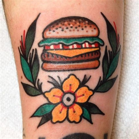 cheeseburger tattoo 78 best ideas about food tattoos on fruit