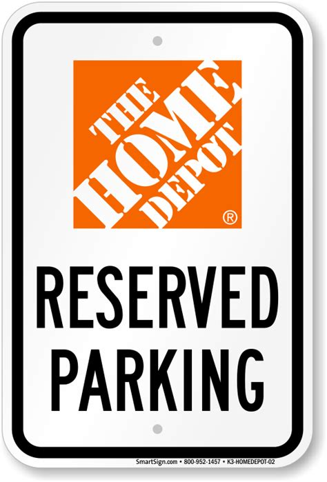 the home depot parking signs