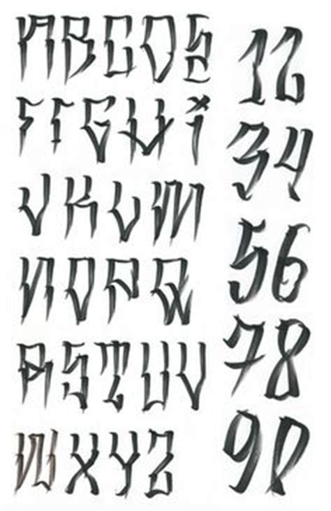 tattoo number font styles image for los angeles homies font lettering pinterest