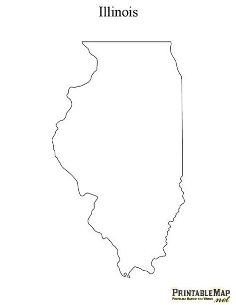 illinois tattoo printable map of illinois crafty craft