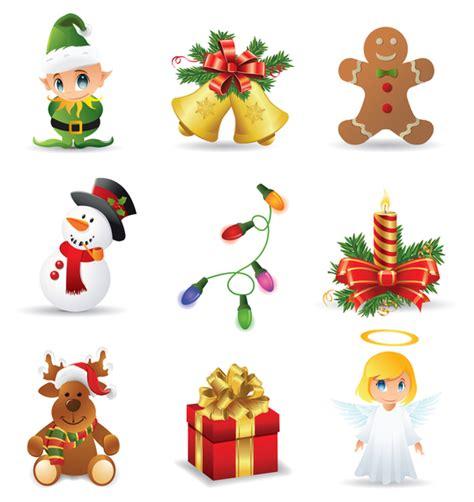 imagenes animadas de regalos de navidad beautiful christmas icons vector vector download